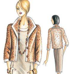 F3182 (marfy) contrast trim jacket #fallintofashion14 #mccallpatterncompany