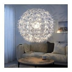 This is my new hacked version of the Ikea Maskros lamp. Ikea Ps, Ceiling Pendant, Pendant Lamp, Ikea Hacks, Ikea Chandelier, Dandelion Light, Dandelion Clock, Room Lights, Ceiling Lights