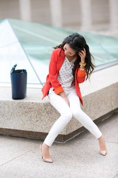 From blog entry: http://www.wendyslookbook.com/2012/04/tangerine-tailored-blazer-spring-white/