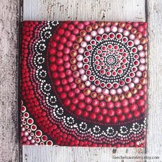 Aboriginal art dot painting small original by for Small canvas boards