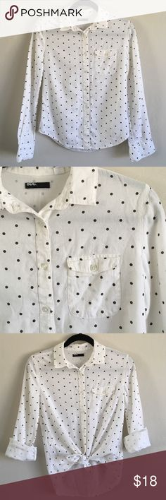 Urban outfitter shirt BDG Urban outfitters shirt. Super chic black polka dots. Soft material. Brand new without tag. Urban Outfitters Tops Button Down Shirts