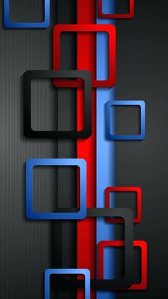 Wallpaper Full HD for Mobile with Red Blue and Black Box - HD Wallpapers | Wallpapers Download | High Resolution Wallpapers