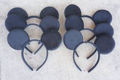 Set of 12 Inspired Disney Mickey Mouse Ears by VeeVeeDesignes