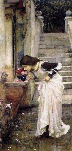 """The Shrine"" (1895) by John William Waterhouse"