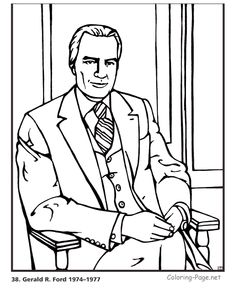 Fancy Coloring Pages Of Presidents 78 Gerald Ford US President