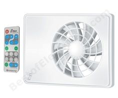Extractor Fan with automatic ventilation system and remote control. http://www.bestofelectricals.com/vents-ifan-celsius-ventilation-fan
