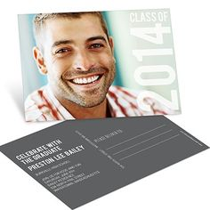 College Graduation Announcements -- Big Year Horizontal Postcard | Pear Tree Greetings