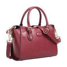 73526a94cd Fineplus Women s New Vintage OL Fashion Qualited Leather Shoulder Handbag  Wine Red. Wishlist Basket · HandBags