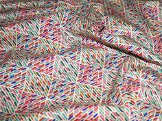 Cream/Multicoloured Print Cotton Poplin Designer Dress Fabric - per metre Preview