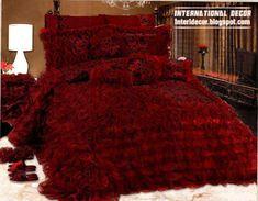 Royal red bedspreads luxurious models 2014, burgundy bedspreads and bedding sets
