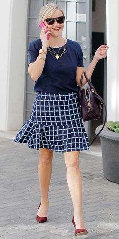 Look of the Day - October 26, 2014 - Reese Witherspoon from #InStyle
