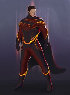 Superman Redesign by John Trinh. I like this color-scheme. The neck-piece is odd though, its too high, looks confining. This look could be more for ZOD. Batman Vs Superman, Superman Artwork, Superman Man Of Steel, Superman Stuff, Superman Wallpaper, Superman Family, Marvel Comics, Dc Comics Art, Superhero Characters
