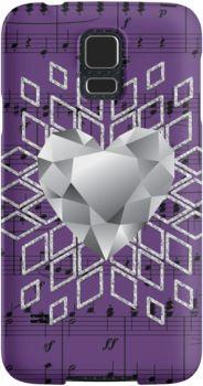 #PurpleMusic #DiamondHeartSnowflake #SamsungGalaxyPhoneCase by #MoonDreamsMusic
