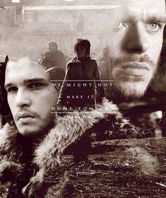Robb Stark, Arya Stark and Jon Snow - game-of-thrones Fan Art