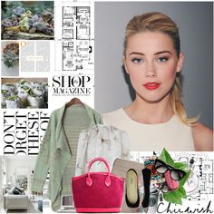 """Amber Heard"" by mars ❤ liked on Polyvore"
