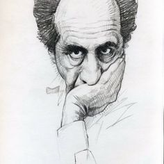 #Drawn #portrait of the of a portrait of a portraitist, Robert Frank. I just looked up who this is, I typically pull aside any picture that looks like its drawing worthy. Then only later do I wish I had noted who the subject is.