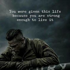 Quotes : You were given this life because you are strong. Positive Quotes : You were given this life because you are strong.Positive Quotes : You were given this life because you are strong. Wisdom Quotes, True Quotes, Words Quotes, Quotes To Live By, Motivational Quotes, Inspirational Quotes, Sayings, Daily Inspiration Quotes, Great Quotes