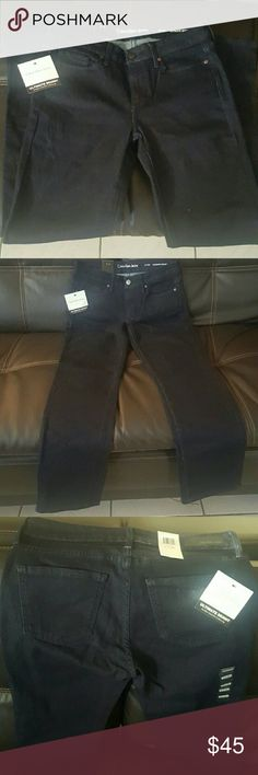 CALVIN KLEIN ULTIMATE SKINNY JEANS 6X30 Brand new with tags never worn. Size 6x30, color is dark blue. Im 5'2, its high waisted, and falls right on my ankles. Calvin Klein Jeans Jeans