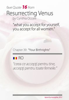 "quote from ""Resurrecting Venus"", by Cynthia Occelli"
