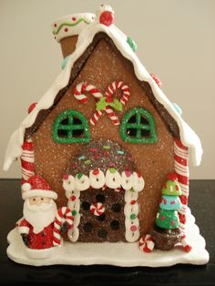 This polymer clay Gingerbread House is adorable! Description from pinterest.com. I searched for this on bing.com/images