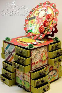 Cabio's Craft Corner: Magnolia Tilda Christmas Advent Calendar Box