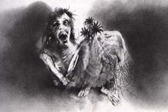 The Illustrations of Scary Stories to Tell in the Dark - The Bride, by Stephen Gammell