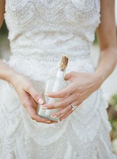 Message in a bottle | Archetype Studio | see more on: http://burnettsboards.com/2014/10/mermaid-inspired-elopement/