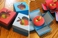 Apple Cupcake Box | 18 Ways to Package Your Cupcakes