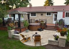 decks and patios pictures | View below our most recent deck and stone patio project below. Click ...