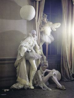 The contrast of white on white. Tim Walker.