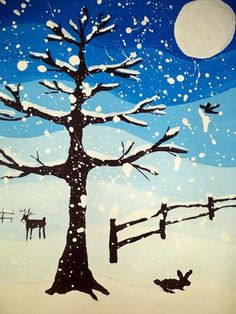 Tints of Winter-great example of tints, dark blue with each section lightening to the final white.
