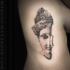 Marco C. Matarese tattoo. Black, ribs, sculpture | Tattoo design - etching…