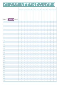 Keep track of your class attendance and make seating chart with this casual style printable planner template for teacher. All templates are available in Letter & Half letter sizes. Attendance Sheet Template, Attendance Chart, Student Attendance, Planner Template, Printable Planner, Attendance Sheets, Lesson Plan Pdf, Teacher Lesson Plans, Lesson Plan Templates