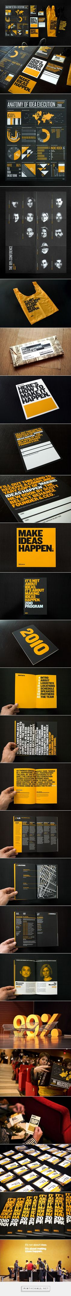 99% Conference 2010: Branded Materials on Behance - created via https://pinthemall.net