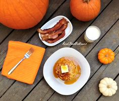 """Soaked"" Pumpkin Pancakes {Overnight Blender Pancakes} real food"