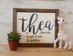 Personalized Rustic Wood Name Sign - Baby Name Meaning - Nursery Decor…