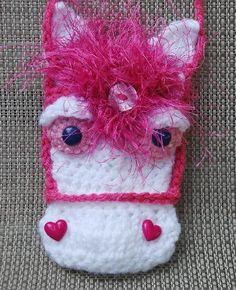 Crochet Horse Case for phone camera credit cards by texastygr, $20.00