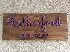 Personalized Board, great for a bridal shower gift! Crowd favorite Approximately 36x15 This is a handmade item. All my string art is made to order and completely customizable! Leave 1-2 weeks for product to be finished. Keep in mind price may change depending on type and size of project. Feel free to convo me about any questions or special requests