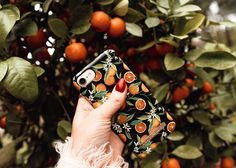 Tropical Fall by lovely @mariellelindahl - Fashion case phone cases iphone inspiration iDeal of Sweden #oranges #apelsiner #fruit #gold #leaf #fashion #inspo #iphone