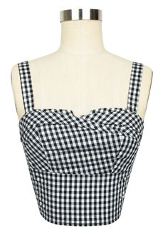 The favorite Trashy Diva Trixie Top is now available in Black Gingham!