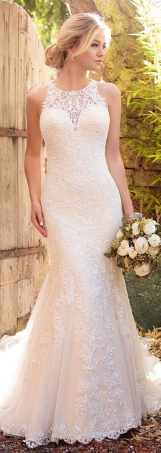 essense of Australia sleeveless lace wedding dresses