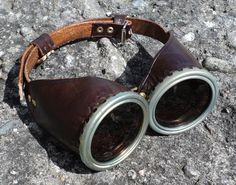 Steampunk leather goggles by BarloggsWorkshop on Etsy