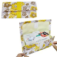 Evelots Coupon Wallet w/ Flower Design Organize Coupons Shopping List Organizer