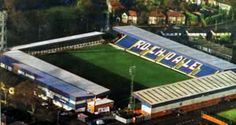 Another protected ground: Spotland, home to Rochdale AFC and Rochdale Hornets. The Hornets successfully applied for ACV status. British Football, European Football, Sports Stadium, Football Stadiums, Acv, Baseball Field, England, Homes, Sports