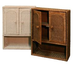 Wicker Bathroom Wall Cabinet