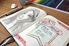 Bujo page sketch. Bullet Journal pagina schets