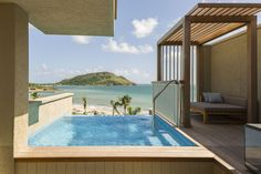 View from a private plunge pool at the Park Hyatt St. Kitts.. Where to Go in 2018 - Bloomberg