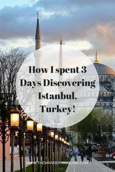 How I spent 3 Days Discovering Istanbul in Turkey! Istanbul is an interesting City. It's big and its intense and there's a lot to do. This is what I did during my 3 days there that would work as a good itinerary for you too!