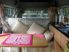 Van outen interior by Celtic camper, via Flickr