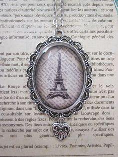 Paris Eiffel Tower Glass Pendant Necklace by CharmedDesignsByJC, $19.99 https://www.etsy.com/listing/123109349/paris-eiffel-tower-glass-pendant